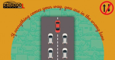 If everything comes your way, you are in the wrong lane