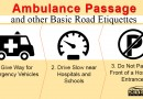 Ambulance Passage and other Basic Road Etiquettes