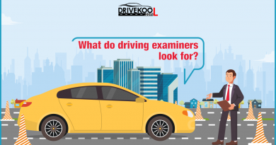 What do driving examiners look for