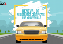 Renewal of Registration certificate for your vehicle.