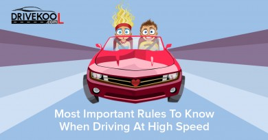 Most important rules to know when driving at high speed. Drivekool